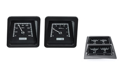 Black Alloy Background, White Lighting, Accessory Gauges shown with OEM dash/ trim/ bezel/ facia.
