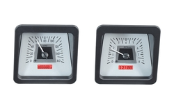 VHX-68C-CAC-S-R: Speedometer/ Tachometer Detail, Silver Alloy Background, Red Lighting