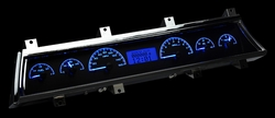 Blue Lighting at Night shown with optional gauge carrier/ bezel.