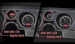 VHX-69C-CVL-K-R with Digital Clock and VHX-69C-CVA-K-R with Analog Clock