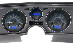 VHX-69C-CVL-C-B: Carbon Fiber Background, Blue Lighting
