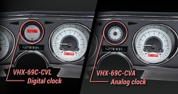 VHX-69C-CVL-S-R with Digital Clock and VHX-69C-CVA-S-R with Analog Clock