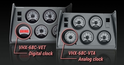VHX-68C-VET-S-R with Digital Clock and VHX-68C-VTA-S-R with Analog Clock