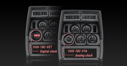VHX-78C-VET-K-R with Digital Clock and VHX-78C-VTA-K-R with Analog Clock
