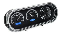 Black Alloy Background, Blue Lighting shown with optional gauge carrier/ bezel.