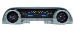 Black Alloy Background, Blue Lighting shown with OEM dash/ trim/ bezel/ facia.