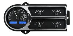 VHX-48F-PU-K-B: Black Alloy Background, Blue Lighting