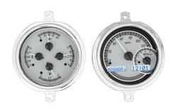 VHX-51F-PU-S-W: Silver Alloy Background, White Lighting
