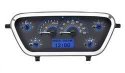 VHX-53F-PU-C-B: Carbon Fiber Background, Blue Lighting with Indicators shown.