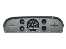 Black Alloy Background, White Lighting shown with Indicators in OEM dash/ trim/ bezel/ facia.