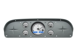 Silver Alloy Background, Blue Lighting shown with OEM dash/ trim/ bezel/ facia.