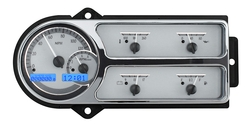VHX-48F-PU-S-B: Silver Alloy Background, Blue Lighting