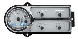 VHX-48F-PU-S-W: Silver Alloy Background, White Lighting
