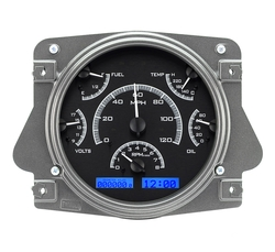 Black Alloy Background, Blue Lighting shown with OEM dash/ trim/ bezel/ facia.