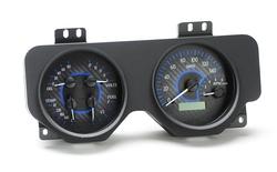 VHX-69P-FIR-C-B: Carbon Fiber Background, Blue Lighting