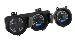VHX-68P-GTO-K-B: Black Alloy Background, Blue Lighting