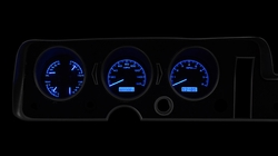 Blue Lighting at Night shown with OEM dash/ trim/ bezel/ facia.