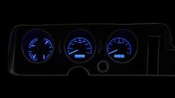 Blue Lighting at Night shown with OEM dash/ trim/ bezel/ facia.