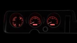 Red Lighting at Night shown with OEM dash/ trim/ bezel/ facia.