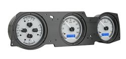 VHX-70o-CUT-S-B: Silver Alloy Background, Blue Lighting