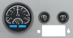 Black Alloy Background, Blue Lighting with Indicators shown.
