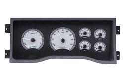 VHX-95C-PU-S-W: Silver Alloy Background, White Lighting