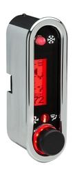 DCC-2500V-C-R: Chrome Bezel, Red Lighting