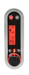 DCC-2500V-S-R: Brushed/ Satin Bezel, Red Lighting