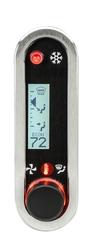 DCC-2500V-S-W: Brushed/ Satin Bezel, White Lighting