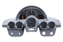 Black Alloy Background w/ Indicators shown in OEM dash/ trim/ bezel/ facia.