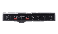 VHX-65F-GAL-K-R: Black Alloy Background, Red Lighting