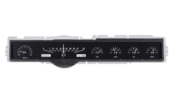 VHX-65F-GAL-K-W: Black Alloy Background, White Lighting
