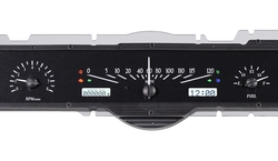 VHX-65F-GAL-K-W: Black Alloy Background, White Lighting with Indicators shown.