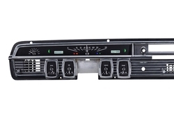 Black Alloy Background, White Lighting with Indicators shown in OEM dash/ trim/ bezel/ facia.