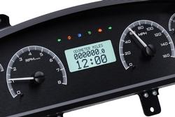 VHX-94C-CAP-K-W: Black Alloy Background, White Lighting with Indicators shown.