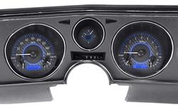 Blue Carbon Fiber Background, Blue Lighting shown with OEM dash/ trim/ bezel/ facia.