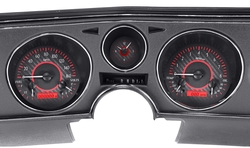 Red Carbon Fiber Background, Red Lighting shown with OEM dash/ trim/ bezel/ facia.