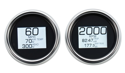MLX-8696/8604 Speedo & Tach with Chrome Bezels