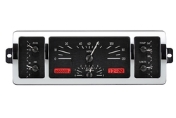 VHX-40C-PU-K-R: Black Alloy Background, Red Lighting