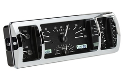 VHX-40C-PU-K-W: Black Alloy Background, White Lighting