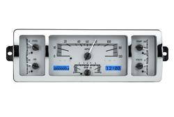 VHX-40C-PU-S-B: Silver Alloy Background, Blue Lighting