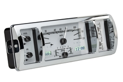 VHX-40C-PU-S-W: Silver Alloy Background, White Lighting