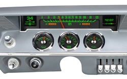 1961- 62 Styled Chevy Impala Gauges shown with OEM dash/ trim/ bezel/ facia.