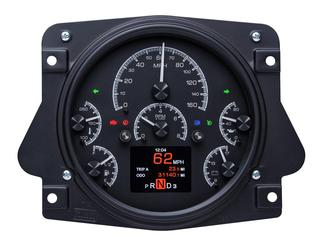 Black Alloy Background w/ Indicators Shown shown with OEM dash/ trim/ bezel/ facia.