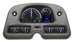 Black Alloy Background with Indicators shown,  in OEM dash/ trim/ bezel/ facia.